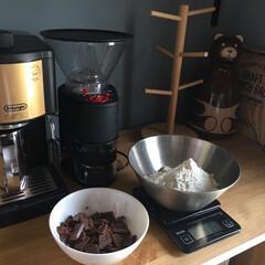 カフェコーナー/チョコクッキー/ドロップクッキー/キッチン雑貨 娘の宿題でドロップクッキー 焼きました❣…