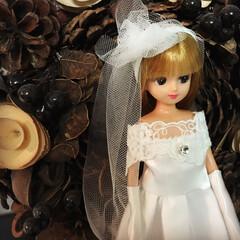 お人形遊び/リカちゃん/ドレス作り/ウェディングドレス/ハンドメイド 娘とお友達がリカちゃんのドレスをデザイン…