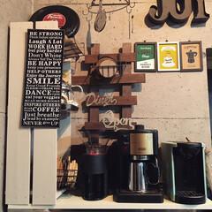 RoomClipモニター当選品/DP3/ドリップポッド/コーヒーメーカー/コーヒータイム/カフェコーナー 我が家のプチカフェコーナーにドリップポッ…