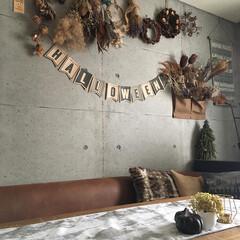 ハロウィン/おばけちゃん/カボチャ/アナベルドライ/ドライフラワーのある暮らし/日本ファブリックス協会/... クッションを秋冬用にしたよ❣️でもって昔…