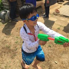 BBQ/水鉄砲/3COINS/GW/わたしのGW 毎年恒例の 幼稚園の幼馴染とBBQ❣️ …