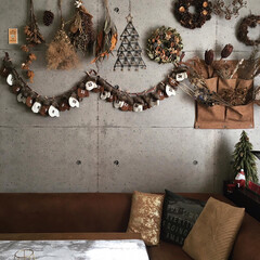 ドライフラワーのある暮らし/スワッグ/リース/クリスマス2019/住まい/ニトリ/... 息子にせかされ、やっとアドベントカレンダ…