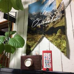 スマホ/コードレス掃除機/デジカメ/お店屋さんごっこ/タペストリー こんばんはー☆ ずーっとテレビ上の壁に飾…