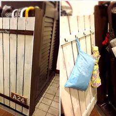 梅雨/DIY/インテリア/玄関/傘立て 玄関の小さな隙間に、傘立てをDIY。ごち…(1枚目)
