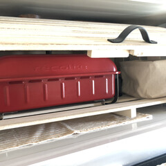 ティッシュケース/電子レンジ上置き/スノコDIY/スノコ/キッチン収納/収納/... 電子レンジをオーブンとして使用する時に、…(6枚目)