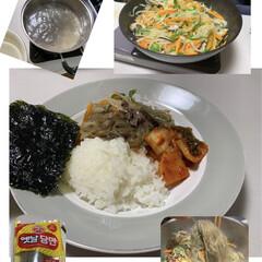 チャプチェ/韓国料理/わたしのごはん/おうちごはんクラブ/グルメ/フード 月に、1、2度、職場の仲間と韓国語のレッ…
