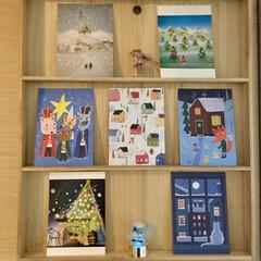 クリスマス/クリスマスツリー/雑貨/ポストカード/北欧/切り絵 ポストカードが好きです。  家にあった木…