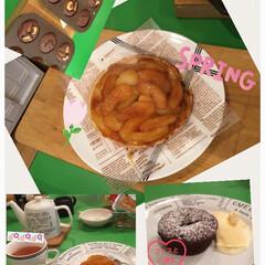 チョコ/リンゴ/フード/スイーツ スイーツ教室で、タルトタタンを作りました…