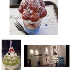 パフェ/いちご/旅行/グルメ/フード 韓国で食べた、タルギ🍓ボンボンとマスカッ…