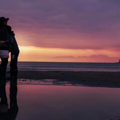 宝物/写真/家族/妹の撮影/カメラ女子/夕陽/... 鎌倉の材木座海岸に行ってきました◡̈*✧…