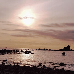 合格祈願?/家族/海遊び/シーグラス/海/真鶴/... 今日は妹と真鶴に日の出を 見に来ました(…