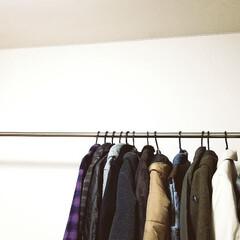 ラブリコ 2X4アジャスター オフホワイト DXO-1 LABRICO | 平安伸銅工業(棚受け)を使ったクチコミ「長く使っていた寝室の 洋服かけが、劣化も…」