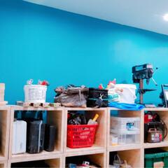 ターナー色彩 ミルクペイントforウォール(室内かべ用) 450ml マリンビーチ MW450533 メーカー直送期日指定不可、ギフト包装不可 、 | ターナー(ペンキ、塗料)を使ったクチコミ「狭小中古物件のリノベーション  道具を収…」