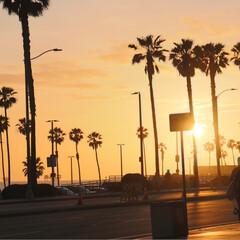 西海岸/アメリカ/ハンティントンビーチ/サンセット/GW/おでかけ/... ハンティントンビーチ 昼間の爽やかなブル…