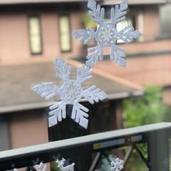 テーブルランナー/窓デコ/クリスマス/100均/ダイソー/セリア/... 100均アイテムとニトリのテーブルランナ…(2枚目)