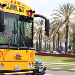 スクールバス/アメリカ/GW/おでかけ/旅行/風景/... 映画やテレビで見たことのある 黄色のスク…