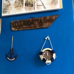 「マリンな浮き輪時計🕰  100均材料で作…」(1枚目)