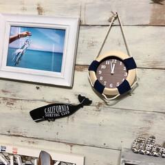 「マリンな浮き輪時計🕰  100均材料で作…」(2枚目)