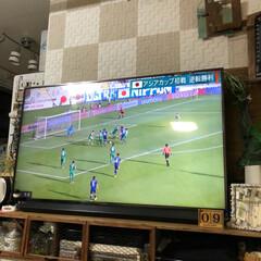 Panasonic/テレビ台diy/大型テレビ/DIY/おうち 我が家のリビングのテレビの大型テレビは6…