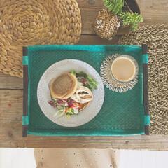 テーブルコーディネイト/テーブルセッティング/テーブルウェア/バリ風/朝ごはん/トレイ/... お仕事が始まっても 朝ごはんは楽しむこと…