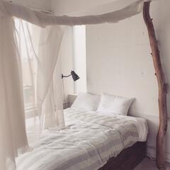 ベッドルーム/ナチュラル/ホワイトインテリア/レンタルスペース/稲村ガ崎/シンプルハウス/... simple house  ベッドルーム…