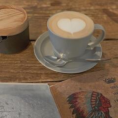 ハート/二子玉川/カフェ巡り/カフェ好き/Cafe/ラテアート/...  ラテアート ふっくらしたハートがほっこ…