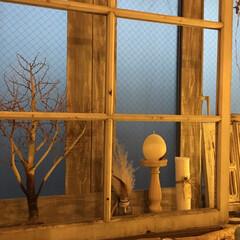 キャンドルのある暮らし/キャンドル/ハンドメイド/DIY/雑貨/ニトリ/... 出窓DIY  古道具屋さんで購入した窓枠…