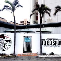 TOGOSHOP/パームツリー/アート/壁画/北谷/沖縄/... 沖縄旅行 雑誌にも掲載されている おしゃ…
