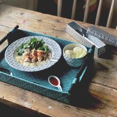 ポーセラーツ/テーブルコーディネート/テーブルウェア/時短料理/海南鶏飯/kaldi/...  続編  ただ食べるだけじゃつまらないか…
