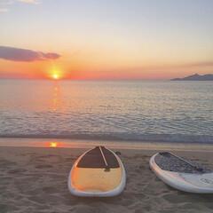 海辺/BEACH/SUP/sunset/名護/沖縄/... 沖縄旅行 初のsunset sup 地元…