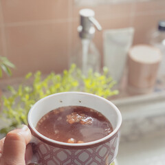 節約レシピ/豆苗/スープ/ポーセラーツ/朝ごはん/キッチン雑貨/... 冬の朝はスープが欠かせないから、インスタ…