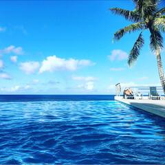 南の島/ホテル/ブルー/インフィニティプール/グァム/おでかけ/... グァム旅行  夏が恋しくなる😩  ホテル…