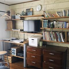 元汚部屋/野地板/板壁DIY/板壁/壁面/壁面収納/... こちらの寝室は元汚部屋でした。 汚部屋を…