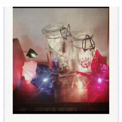 折り紙ランプシェード/押し花アート/ライト/秋/100均/セリア/... セロファン折り紙ライトと押し花ライトを作…
