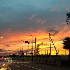 夕焼け 素敵な夕焼けでした