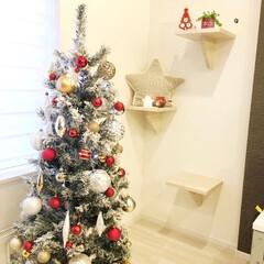 ニトリのクリスマスツリー/クリスマス/クリスマスツリー/100均/ダイソー/ニトリ ニトリの150㎝のツリーは、ホワイトとシ…