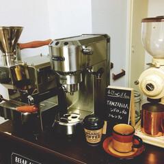 コーヒーミル/エスプレッソマシーン/デロンギ/カフェタイム/カフェ気分/自家焙煎/... コーヒーミル、エスプレッソマシーン、焙煎…