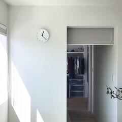 ロールスクリーン/ウォークインクローゼット/無印良品/住まい/暮らし ✳︎ 寝室の奥に、ウォークインクローゼッ…