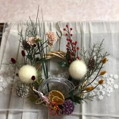 ファミマ/お正月用の御飾り/セリア/ハンドメイド/掃除グッズ お正月用の御飾り制作、 色々手を加えて変…