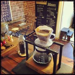 おうちcafé/Coffee/賃貸/DIY/手作り/ドリップスタンド 休日のコーヒータイム( ´ ▽ ` )ノ…
