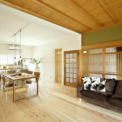 ステンレスキッチン/和モダン/リビング(居間)/リビング/リノベーション/キッチン 和洋折衷。タイムレスな空間に仕上げました。