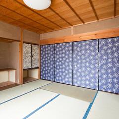 リノベーション/リフォーム/住まい/和室/和モダン/畳/... 施工事例より。和室も畳を入れ替えふすまを…(1枚目)