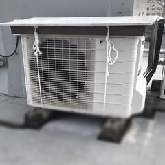 エアコン室外機/庇/DIY エアコン室外機に直射日光が当たると、エア…(1枚目)