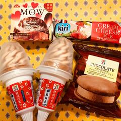 信玄餅アイス/フード 外は 寒いですが 温かいお部屋で食べる …