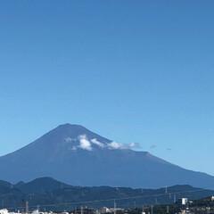 富士山 皆さま  大丈夫だった??  台風一過 …