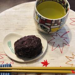 nagomiさんのお皿/おはぎ/フード やっぱり 最初は、おはぎ ❣️ ちょっと…