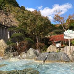 お出かけ/温泉 露天風呂ー〜 清水区の山奥の温泉♨️に来…(2枚目)