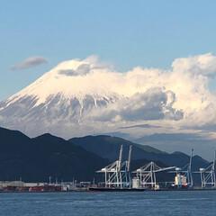 富士山 清水港からの 今日の富士山  綺麗🗻☀️