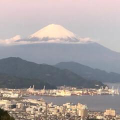 富士山🗻 今日の富士山 夕暮れ時 日本平から清水港(2枚目)
