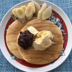 パンケーキ/おうちごはん 今日の遅い朝ごはん🥞 noriちゃんpi…